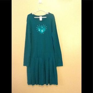Girls teal Cotten dress